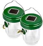 Lebend Fliegenfalle Insektenfalle Wespenköder Fliegenfalle Garten Wespenfänger Wespenfalle Lebendfalle für Wespe Fliege Hornisse Giftfreie Wespen Fliegenfalle zum Hinstellen und Aufhängen 2pc