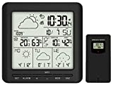 infactory WLAN Thermometer: WLAN-Funk-Wetterstation mit Außensensor, LCD-Display, Wettertrend, App (WLAN Hygrometer)