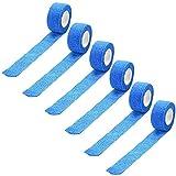bandage handgelenk 6 stück,tapeband sport,kinesiologie tape 2.5cmX4.5,kinesiologisches physio sport tape,Medizinischer selbstklebender elastischer Wickelbandverband (Blau)