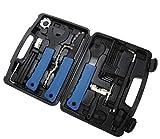 Bubble-Store 20-teiliges Fahrrad Reparatur Werkzeug-Set, Speichenschlüssel, Kettenpeitsche, Kettenwerkzeug, Lagerschalenwerkzeug etc. im Werkzeugkoffer