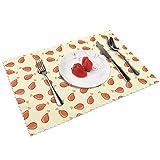Frittiertes Huhn, waschbar, Vinyl, gewebt, isoliert, hitzebeständig, Küchentischmatten, 45,7 x 30,5 cm