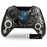 TechKen Wireless Xbox One Controller,Xbox Wireless Controller,Xbox One Gamepad Ohne Kabel,2,4Ghz Game Kontroller Kabellos Ohne Kopfhörerloch,Kompatibel mit Xbox One/Xbox One S/Xbox One X/PS3 und PC