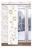 Schiebevorhänge von ars_vivendi Schiebegardine STERNENGLANZ 60x245cm Wintergardine Raumteiler Schaufensterdeko Winter