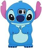 Xiaoyuer Hülle für Samsung Galaxy S7 Niedlich Lustige Karikatur Schutzhülle für Mädchen Jungen Teenager, Stitch Design Schwarz Zahnloses Mode Spaß Galaxy S7 Silikonhüllen Haut für Samsung S7