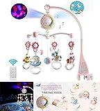 Baby Bett Glocke Story rotierender projektor Baby Musik krippe Mobile Bett Glocke Spielzeug hängen rasseln Provisor Spielzeug Geschenk für neugeborenen säuglings Kleinkind (pink) Gorgeous