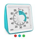60 Minuten visueller Timer stille Countdown-Uhr zum Kochen, Backen, Unterricht, Prüfungsspiel, kein lautes Ticken, Zeitmanagement-Tool (blau)