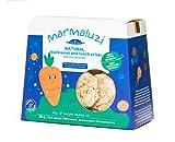 Marmaluzi Naturkost Buchweizen und Linsen Baby Chips | Ohne Zuckerzusatz | Laktosefrei | Frei von Konservierungsstoffen | Ab 8 Monaten | Pack 4 x 30 g