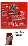 Löschdeckenbox Stahlblech rot Gr. L 30xB 30xT 8 cm mit Steckplombe Plombierb