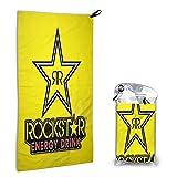 Large Puzzle Rockstar Energy Drink Mikrofaser Strandtuch - schnelltrocknend leichte Reisehandtücher Ultra saugfähiges Sporthandtuch