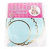 Uxsiya Pappregal Cupcake Stand für Party Servierhalter für Gebäck for(Blue)