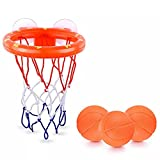 zhaolo Badespielzeug Saugnapf Schießen Basketball Hoop mit 3 Bällen Badezimmer Badewanne Dusche Spielzeug Kinder Spiel Wasserspiel Spielzeug für Kinder