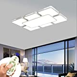 COOSNUG LED Deckenleuchte 78W Dimmbar Modern Deckenlampe Flur Wohnzimmer Lampe Schlafzimmer Küche Energie Sparen Licht Wandleuchte [Energieklasse A++]