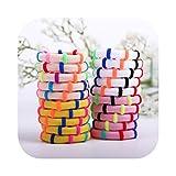 20 Stück Haargummis in Bonbon-Farbe, Haargummi, Haar-Zubehör für Mädchen, Kinder, Pferdeschwanz, warme Farbe