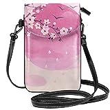 Kleine Umhängetasche, japanische Kirschblüte, Pink, leicht, für Damen und Mädchen