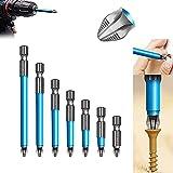 Magnetischer Rutschfester Bohrer Schraubendreher Bit Set,Bitset Magnetisch FüR Akkuschrauber,Elektrisches Querbit Magnetbohrer