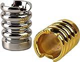yaoviz® 2X Glutkiller für Aschenbecher Welle Metall Gold Silber schwere Qualität offen Gluttöter Glutlöscher