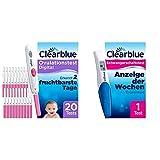 Clearblue Kinderwunsch Ovulationstest Digital - Fruchtbarkeitstest für Eisprung, 20 Tests & Schwangerschaftsfrühtest mit Wochenbestimmung und eindeutigen digitalen Ergebnissen, 1 digitaler Test