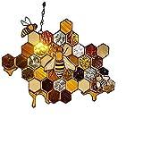 BFCGDXT neue Bienen-, Honig-, Waben-, Hirten-, hängende Kunstdekorationen im F