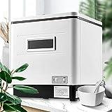 Tischgeschirrspüler Tragbarer Mini Geschirrspüler große Kapazität Vollautomatisches 360-Grad Spülmaschine, 12 Liter Wasser Benötigt für Wohnungen, Schlafsäle, Wohnmobile, 6-Port-6-Mahlzeit, Weiß