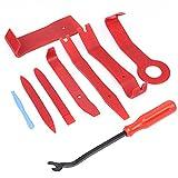 Flintronic Auto Demontage Werkzeuge Set, 9-teiliges Werkzeug zum Entfernen der Autotürverkleidung, Werkzeugsatz zum Zerlegen von automatischen Türverkleidungen mit Nylon-Aufbewahrungstasche