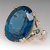 N-K Diamant Verlobungsring Diamant Saphir Ring Edelstein Ring Vintage Edelstein Boho Ring, blau, Größe 11 langlebig und nützlich Praktisches Design und langlebig