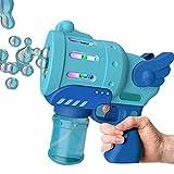 Seifenblasenmaschine Kinder, Bubble Machine Elektrische Automatische Seifenblasenpistole mit Buntem Licht Innen und Außen Seifenblasen Spielzeug Geschenke für Kinder