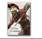 RZHSS Assassin's Creed Odyssey Origins Poster Und Drucke Bilder Leinwanddrucke Wandkunst Leinwandmalerei Wohnkultur -20X30 Zoll No Frame 1 Pcs