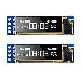 MakerHawk I2C OLED Anzeigemodul I2C SSD1306 Bildschirm Winziges Modul 0,91 Zoll Weiß 128X32 I2C OLED-Treiber DC 3,3 V bis 5 V für Arduino (2er-Pack)