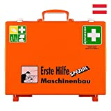 Söhngen Erste-Hilfe-Koffer Maschinenbau, Wandhalter, orange, ÖNORM Z 1020 Typ 1, mit Prüfplakette