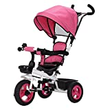 LOMJK Standardkinderwagen Kinderwagen 1-3 Jahre Kinderwagen 2-6 Jahre 3-Rad Sonnenschutz Faltbare Schubstange 360 ° Drehwagen Baby Kinderwagen Buggys (Color : B)