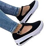 Frauen Sommersandalen Mode Keil Plattform Schnalle Riemen Sandalen Damen Retro Round Head Loafers Low Heel Keil Schuhe Neue Plattform Freizeitschuhe
