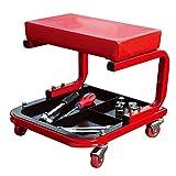 Werkstatthocker Rolling Mechanic Hocker Stuhl Creeper Sitz, Reparaturwerkzeug Tray Shop Auto Auto Garage