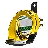 KAIYAN Schneckenhupe, 130 dB, super laut, Zughupe, elektrisch, für LKW, Zug, Boot, Auto, Luft, elektrisch, 12 V, wasserdicht, Doppelhorn, Lufthupe, Kompressor für Auto Motorrad