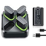 Akku für Xbox Series X S One Controller, Dr.VIVA Controller Ladestation mit 4*1400 mAh Akku Pack Wiederaufladbare Ladegerät Play & Charge Kit Zubehör Kompatibel mit Xbox One X S Xbox Series X&S