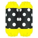 MLOPPTE Schöne Schürze für Frauen Küche Kochen Arbeitskleidung Polka Dot Princess Bowknot Wasserdicht Öldichte Ärmel-gelb