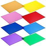 Neewer 30 x 30cm Transparente Farbkorrektur-Licht-Gel-Filter Set Packung: 8 Gel Blätter für Fotostudio Blitzlicht (Rot, Gelb, Orange, Grün, Lila, Rosa, Hellblau, Dunkelblau)