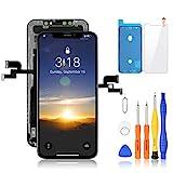 Yodoit OLED Display für iPhone X Bildschirm Schwarz Reparaturset 5.8 Zoll, 3D Touch Digitizer Montage Glas Touchscreen Ersatz mit Reparatursatz, Kompatibel mit Modell A1865, A1901, A1902