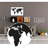 GREAT ART® Poster – Black & White World Map – Landkarte Kontinente Weltkarte Schwarz-Weiß Globus Worldmap Erde Welt Erdkunde Geografie Dekoration Wandbild Din A2 (42 x 59,4 cm)