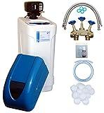 WTS AKE 80 Wasserenthärtungsanlage mit Installationspaket 1000B für 4-12 Personen, mengengesteuerter Enthärter entfernt zuverlässig Kalk aus dem Wasser, Steuerung BNT 1650F