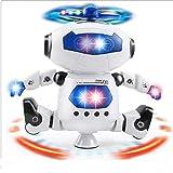 Walking Dancing Robot Spielzeug FüR Kinder, Spinning Robot, Electronic Walking Dancing Robot Hunde Smart Musical Toy, 360 ° Body Spinning Robot Toy (rot)