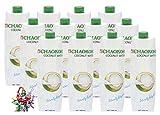 yoaxia ® - 12er Pack - [ 12x 1 Ltr. ] Reines Kokoswasser / COCONUT WATER + ein kleines Glückspüppchen - Holzpüppchen