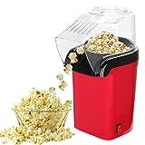 FOGARI Popcornmaschine,1200W Popcornmaker für Zuhause, Heißluft Pop Corn Maker Fettfrei Ölfrei,Mit Messlöffel (Rot)
