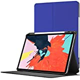 Forefront Cases Smart Hülle für iPad Pro 12.9 2018 - Magnetische Schutzülle Case Cover & Ständer Apple iPad Pro 12.9' 2018 - Smart Automatische Schlaf Wach Funktion - Elegant Dünn Leicht - Königsblau