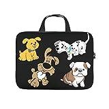 Laptoptasche mit niedlichem Welpen-Hund, Laptop-Tasche, personalisierbar, verschleißfest, Laptop-Hülle mit tragbarem Griff, für Damen und Herren, weiß, 12 Z