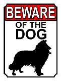 Home Decor Schild 'Beware of the Dog' Metall Tin Gate Schild Hund Warnschilder Gefahr Private Property Schild Metall für Outdoor vorgebohrte Sicherheit M