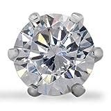 LAB DIAMOND Ohrstecker FIRENZE für Damen - 14 Karat edles Weissgold mit 0.46 ct im Labor hergestellter rund Diamant - Damen Ohrringe - nachhaltiger Ohrschmuck