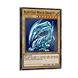 Anime-Poster Yu-gi-oh Cards Blue Eyes White Dragons, Raumdekoration, Poster, Wohnzimmer-Poster, ästhetisches Türposter, 20 x 30 cm