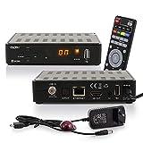 RED OPTICUM Sloth S1 Ultra Sat Receiver mit PVR I Digitaler Satelliten-Receiver HD 1080p - HDMI - LAN - USB - Coaxial Audio I 12V Netzteil ideal für Camping I Receiver für Satellitenschüssel