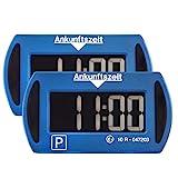 2X Park Mini Blau elektronische Parkscheibe Digitale Parkuhr mit offizieller Zulassung - 2 Stück Set Sparset