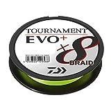 Daiwa Tournament X8 Braid EVO+ 0,12mm 135m Chartreuse geflochtene Angelschnur